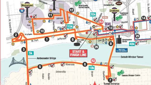 detroit freep half coursemap
