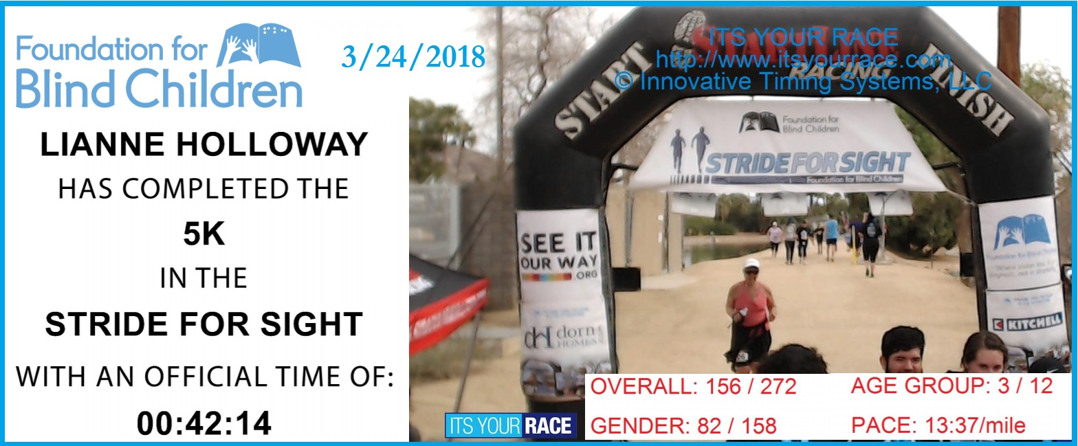 2018 Stride for Sight Scottsdale AZ